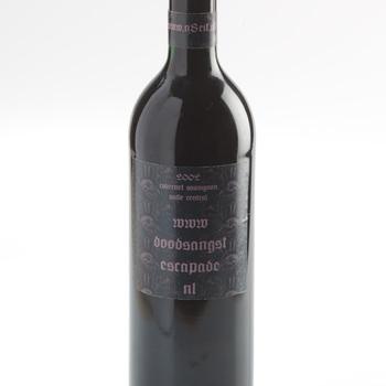 Wijnfles, glas, 20e eeuw
