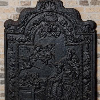 Haardplaat, gietijzer, ca. 1700