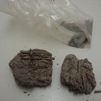 Fragmenten, turf,