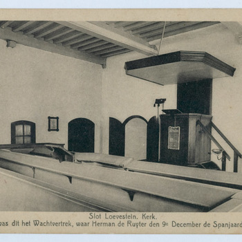 Interieur slot, ansichtkaart