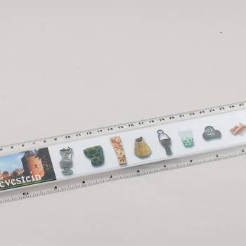 Liniaal, plastic, 2004