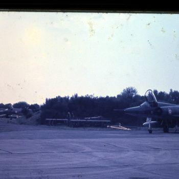 Mirage 3 jachtvliegtuigen op vlb Deelen, mei 1970