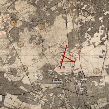 Wandkaart Vliegbasis Deelen en omgeving