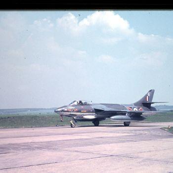 Hawker Hunter RAF op vlb Deelen