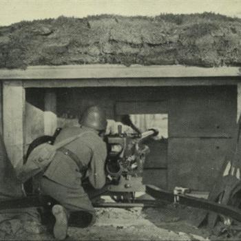 Nederlands Böhler 4,7 cm anti-tank kanon in stellilng