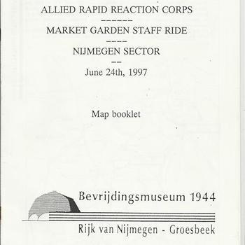 Collectie Van den Bergh, Market Garden Staff Ride Map Booklet