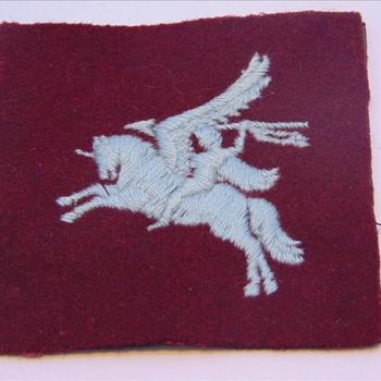 embleem,stof,  Brits Pegasus shoulder patch of the British Airborne Troops of WWII.