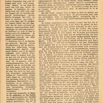 De Bevrijding. No. 208. 23 Februari 1945.