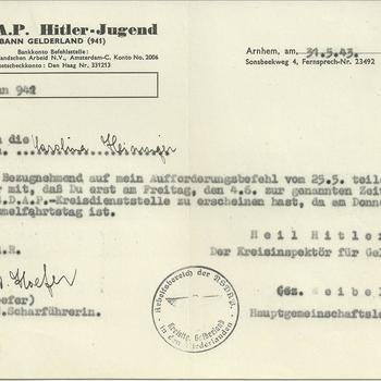 NSDAP - Hitler-Jugend afdeling Gelderland
