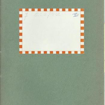 dagboek  schrift no 7  - dhr van Lieshout -