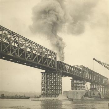 herstelwerkzaamheden, spoorbrug, brugpijler, Oosterbeek
