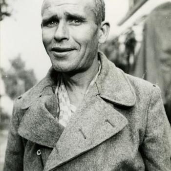 teruggekeerde Nederlandse gevangene uit Dachau, Beek, 4 juni 1945