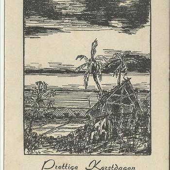 Briefkaart van Jan .J.G. Vreeken en zijn verloofde Aartje Harting