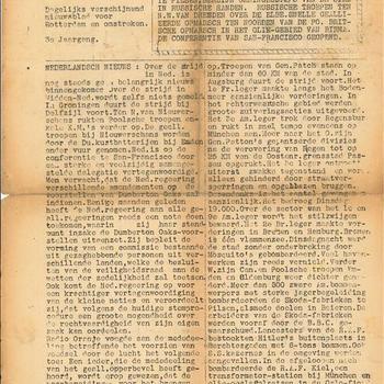 Ons Kompas,  Donderdag 26 April 1945