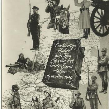 Ansichtkaart met de tekst : Nederland Ons Vaderland