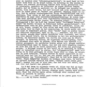 """Oorlogsverslag over, in en om """"Dekkerswald"""" door B. v.d. Helm. 28-8-1944 tot 17-5-1945."""