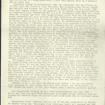 brieven van G. Raaijmakers  sup.prov.  S.C.J. aan de paters, fraters en broeders  1943