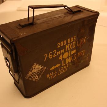 Munitiekist voor 7.62 mm munitie 200 stuks