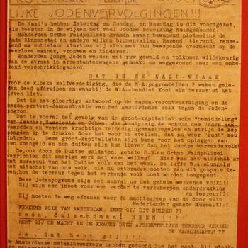 Replica stencil oproep tot de febrauristaking van de communistische Partij