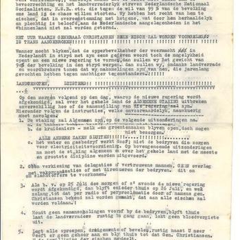 "Pamflet : Juli 1941 ""Proclamatie""Nederlander"