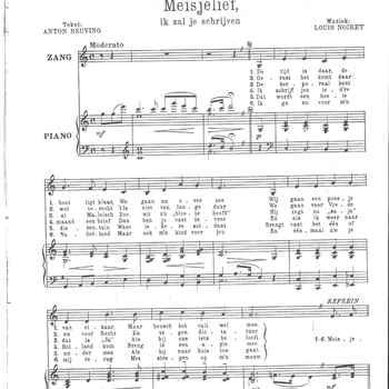 collectie Keesing, Meisjelief ik zal je schrijven, opgedragen aan het zingende Bataljon II-7-R.I., 1946, kopie