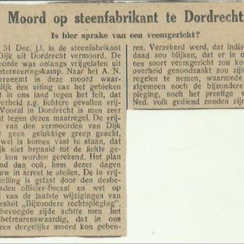 Moord op steenfabriek te Dordrecht