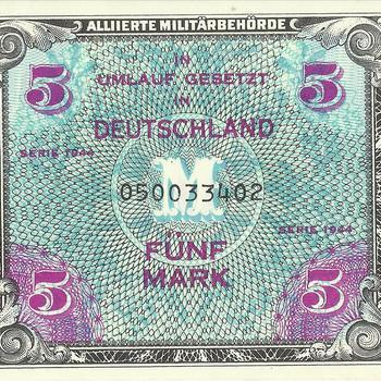 Bankbiljet Duitsland, In Umlauf gesetzt in Deutschland, fünf Mark