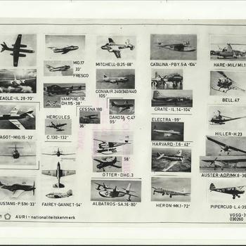 Vliegtuigherkenningsmateriaal, Koninklijke Luchtmacht-detachement Nieuw-Guinea, zuigermotor-vliegtuigen
