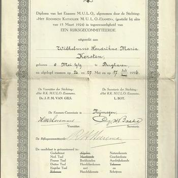 Diploma A.   M.U.L.O.  van W.H.M. Kersten