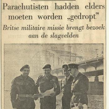 De Slag om Arnhem  Parachutisten hadden elders moeten worden gedropt
