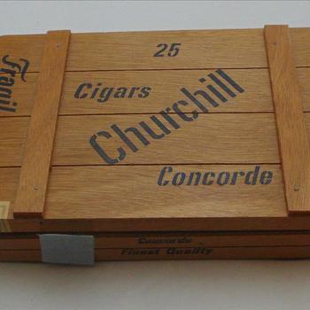 sigaren, houten kistje, 25 Churchill Cigars, Concorde