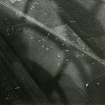 luchtfoto LZ bij Wolfheze, September 1944