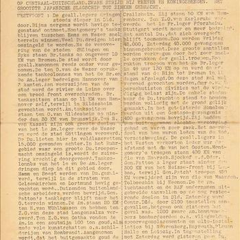 Ons Kompas, Maandag 9 April 1945