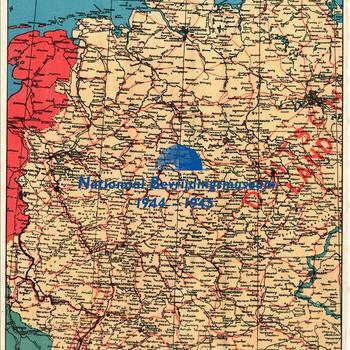 Duitsland, meerkleurendruk, schaal onbekend. De kaart bestaat uit twee aparte delen, Oost- en West-Duitsland en is op 7 maart 1996 in de collectie geplaatst