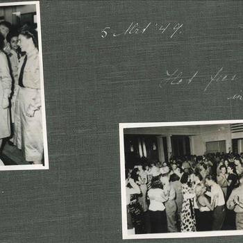 '5 jarig bestaan Vrouwenkorps KNIL, 5 mei 1949, het feest 's avond sin AMVJ'