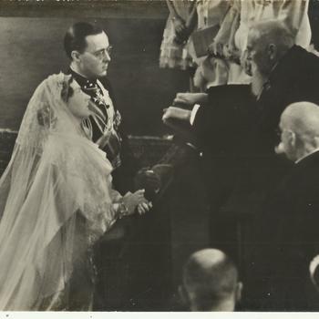 de inzegening van het huwelijk van Prinses Juliana en Prins Bernhard
