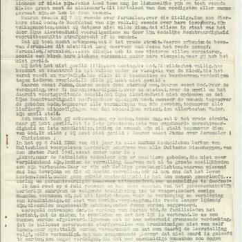 manuscript van de predicatie van den bisschop van Munster op zondag 3 augustus 1941 in de kerk van Sint Lambertus te Munster