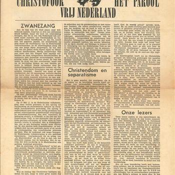 Je Maintiendrai / Christofoor / Het Parool / Vrij Nederland, zaterdag 9 juni 1945.