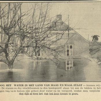 Hoe hoog het water in het Land van Maas en Waal staat 14 februari 1940