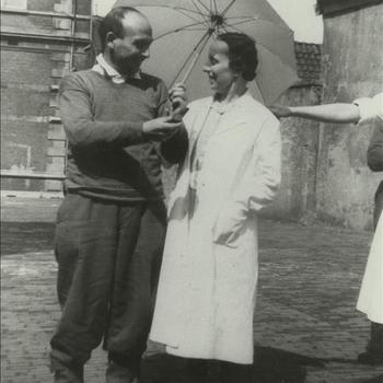 verpleegsters, militairen, Belgen, krijgsgevangen, Nijmegen, Rode Kruis