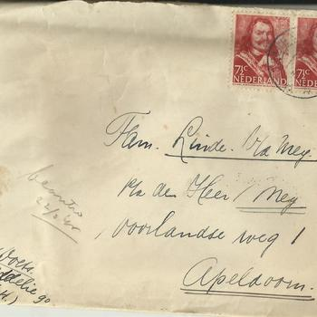 brieven voor de familie Linde van der Meij te Apeldoorn periode 1944 - 1945  brief  80 t/m 96