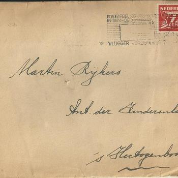 Brieven van Martinus Adrianus Rijkers en Anna Gerarda Maria van Rooij, periode 1943