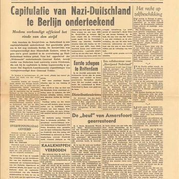 De Waarheid woensdag 9 mei 1945