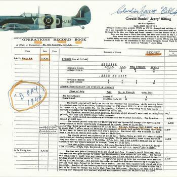 Jerry Billing - documenten met daarop geschreven opmerkingen