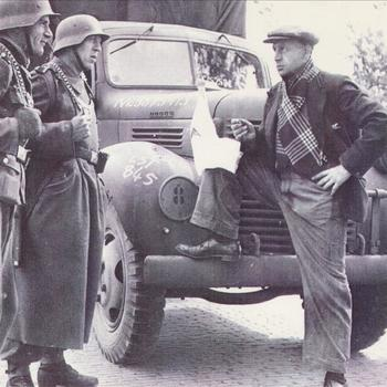 Manna; Duitse soldaten, burger en agent bij vrachtwagen