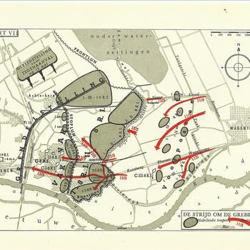 kaartje De strijd om de Grebbeberg