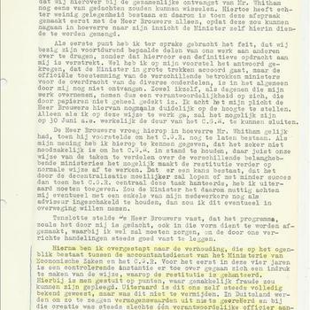 verslag van het gesprek tussen dhr Brouwers op 19 mei 1949