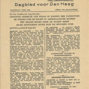 Het Parool    7 mei 1945
