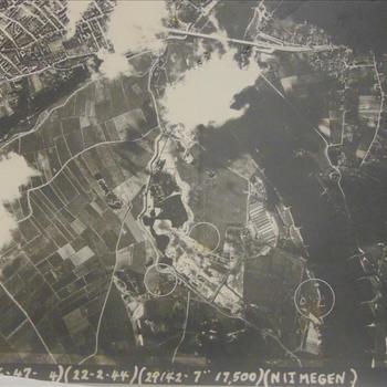 bombardement Nijmegen, luchtfoto