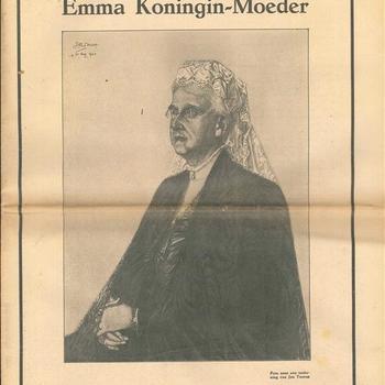 Emma  Koningin Moeder, 2 augustus - 20 maart 1934